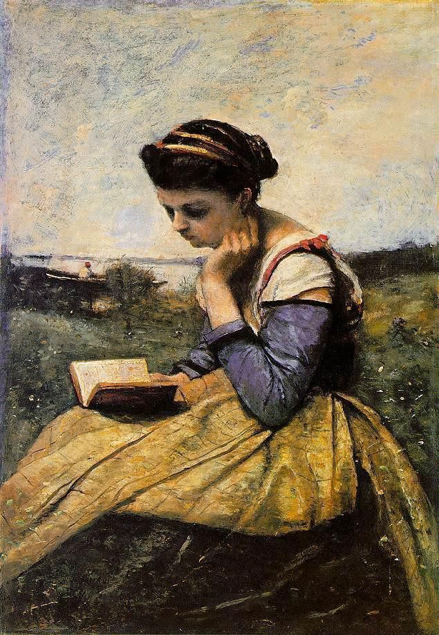 Woman Reading in a Landscape 1869